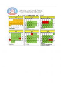 Calendario Word 2020.Calendario No Word 2020 Certo Colegio Tic Tac